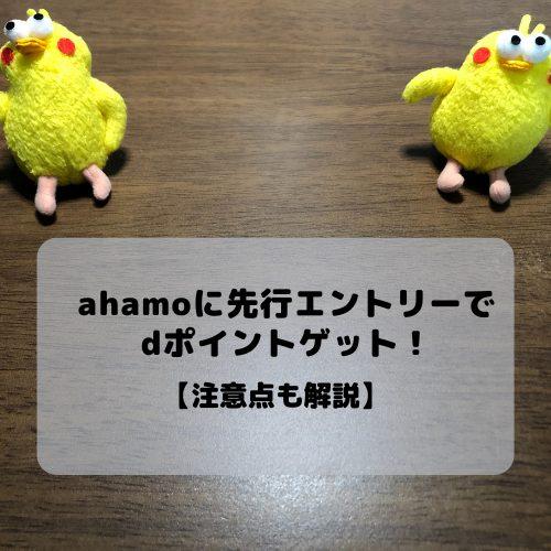先行 エントリー アハモ